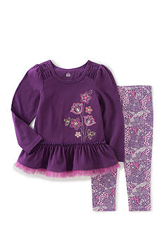Kids Headquarters Floral Print Long Sleeve Tunic and Pants Set