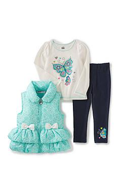 Kids Headquarters 3-Piece Vest, Tee, and Pants Set