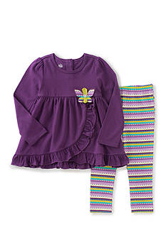 Kids Headquarters Ruffled Tunic and Leggings Set Toddler Girls