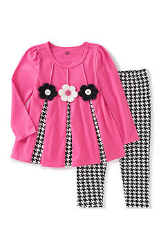 Kids Headquarters Pink Houndstooth Set Toddler Girls