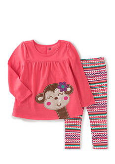 Kids Headqrtrs Inf/Tdlr Coral Heather Monkey Set Toddler Girls