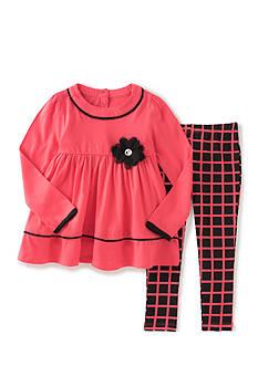 Kids Headqrtrs Inf/Tdlr 2 Piece Pink and Black Plaid Set Toddler Girls