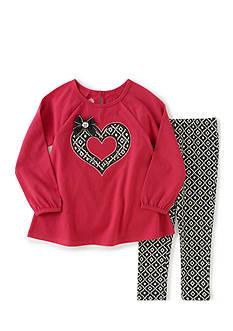 Kids Headqrtrs Inf/Tdlr 2-Piece Berry Heart Split Back Set Toddler Girls