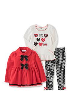 Kids Headqrtrs Inf/Tdlr Heart Jacket Set Toddler Girls