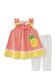 Kids Headquarters 2-Piece Pineapple Shirt and Capri Set