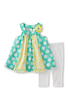 Kids Headquarters 2-Piece Daisy Capris Set