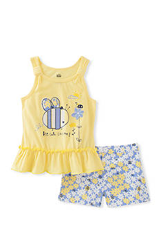 Kids Headquarters 2-Piece Bee Tank and Short Set