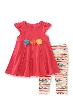 Kids Headquarters Solid Tunic and Patterned Legging 2-Piece Set Toddler Girls