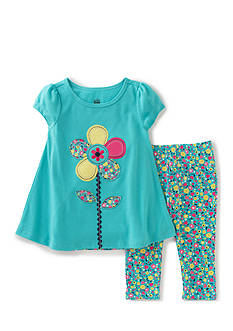 Kids Headquarters Flower Tunic and Legging Set Toddler Girls