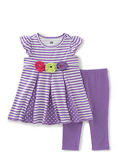 Kids Headquarters Stripe Tunic and Legging 2-Piece Set Toddler Girls