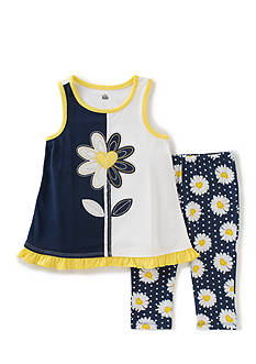 Kids Headquarters Daisy Top and Leggings 2-Piece Set Toddler Girls