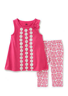 Kids Headquarters 2-Piece Top And Printed Legging Set Toddler Girls