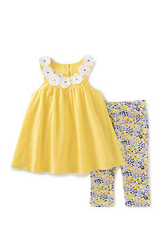 Kids Headquarters Floral Tunic and Leggings 2-Piece Set Toddler Girls