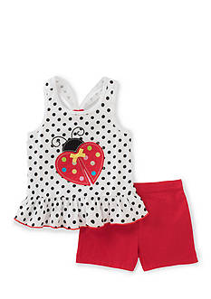 Kids Headquarters Ladybug Top and Short 2-Piece Set Toddler Girls