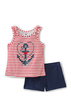 Kids Headquarters Anchor Top and Short 2-Piece Set Toddler Girls