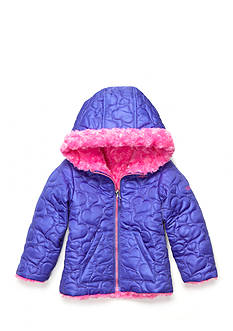 Pacific Trail Heart Quilted Reversible Jacket Toddler Girls