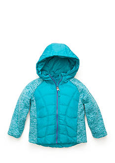 Pacific Trail Mixed Media Sweater Fleece Jacket Toddler Girls