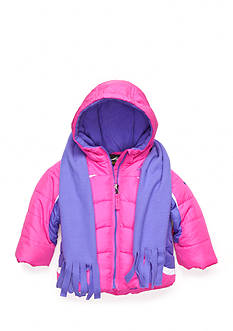 M. Hidary Puffer Jacket with Fleece Scarf