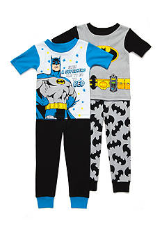 Batman™ Logo 4-Piece Pajama Set Toddler Boys