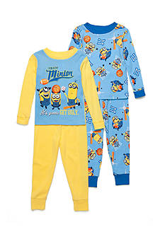 minions™ 4-Piece Team Minion Pajama Set Boys 4-20