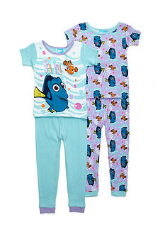 Disney Pixar Dory 'Sea Ya!' 4-Piece Pajama Set Toddler Girls