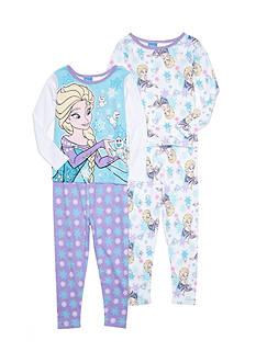Disney Frozen Character 4-Piece Sleepwear Set Toddler Girls