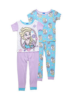 Disney Frozen Elsa 4-Piece Pajama Set Toddler Girls