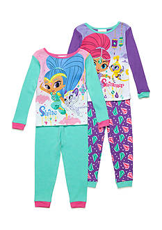 Nickelodeon 4-Piece Shimmer and Shine Pajama Set Toddler Girls
