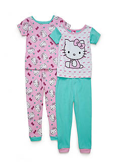 Hello Kitty Character Pajama 4-piece Set Toddler Girls