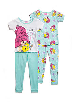 Disney The Little Mermaid 4-Piece Pajama Set Toddler Girls