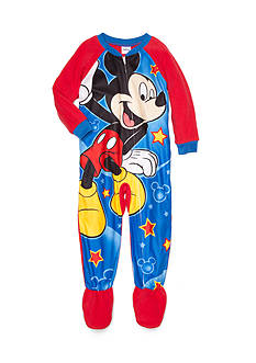 Disney Mickey Mouse Character 1-Piece Footed Sleepwear Toddler Boys