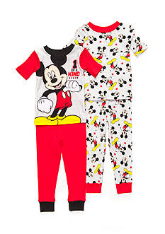 Disney Mickey Mouse '1 of a Kind' 4-Piece Pajama Set Toddler Boys