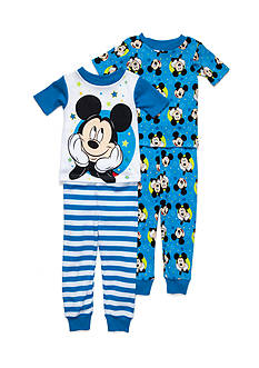 Disney Mickey Mouse 4-Piece Pajama Set Toddler Boys