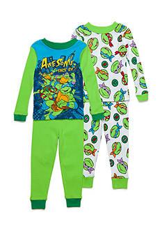 Nickelodeon 4-Piece Teenage Mutant Ninja Turtles Pajama Set Toddler Boys