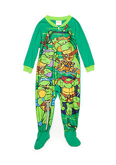AME 1-Piece Teenage Mutant Ninja Turtles Footed Pajama Toddler Boys