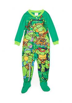 AME 1-Piece Teenage Mutant Ninja Turtles Footed Pajama Toddler Boys