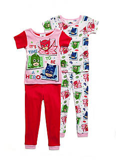 AME Pj Masks 4-Piece Pajama Set Toddler Girl