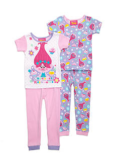 DreamWorks Trolls 4-Piece Pajama Set Toddler Girls