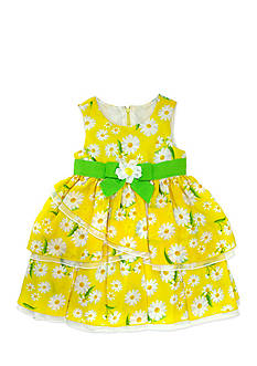 Nannette Printed Daisy Tiered Chiffon Dress Toddler Girls