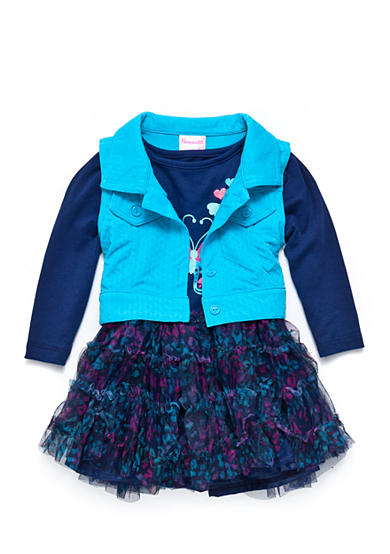 Nannette 2-Piece Vest and Butterfly Dress Set Toddler Girls