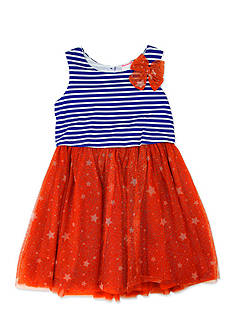 Nannette Stars and Stripes Dress Toddler Girls