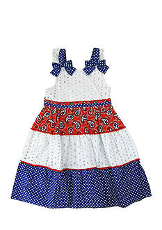 Nannette Tiered Bandana Dress Toddler Girls