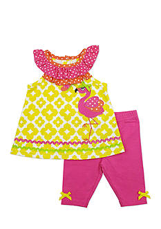 Nannette 2-Piece Flamingo Tunic and Legging Set