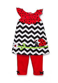 Nannette 2-Piece Lady Bug Tunic and Leggings Set