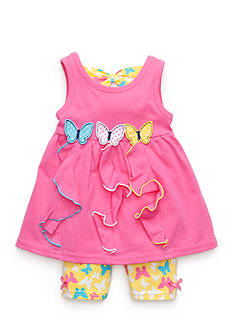Nannette Butterfly Shorts Set