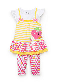 Nannette 2-Piece Strawberry Tunic and Dot Legging Set Toddler Girls