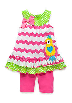 Nannette 2-Piece Parrot Top and Biker Shorts Set Toddler Girls