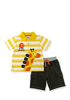 Nannette 2-Piece Giraffe Polo and Short Set