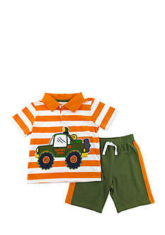 Nannette 2-Piece Safari Truck Polo and Short Set