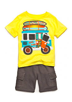 Nannette 2-Piece Wagon Tee and Short Set Toddler Boys